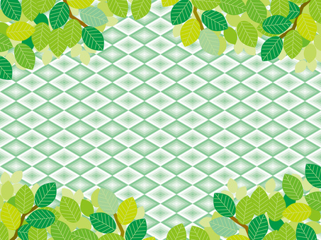 Pattern (117) Fresh green and diamonds in summer