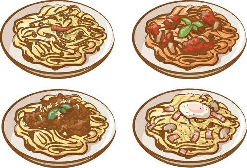 Four spaghetti