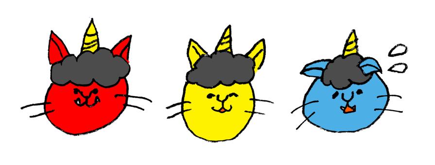 입춘 고양이 트리오