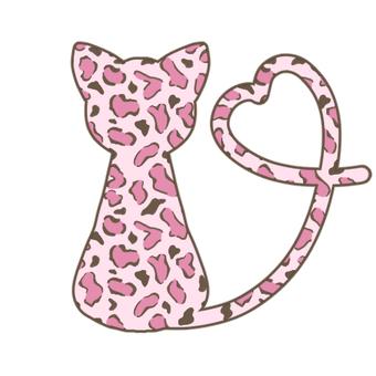 Leopard pattern cat (pink)
