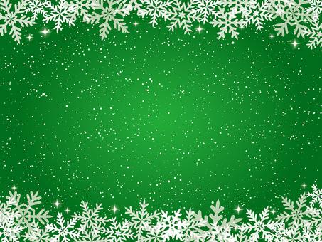 雪の結晶の上下フレーム