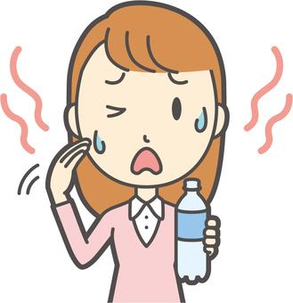 핑크 소녀 긴 머리 -258- 가슴