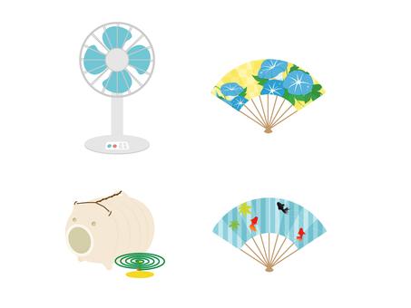 Simple summer motif various 5