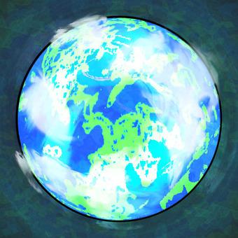 Blue Glowing Earth