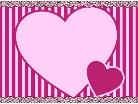 バレンタインーハートメッセージカードー