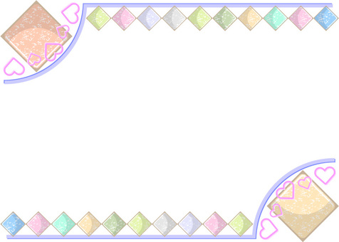 Simple pastel color heart frame