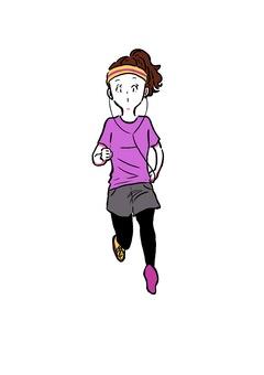 달리기 여자