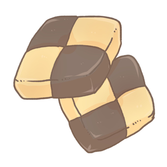 Checkered cookie