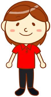 "Polo shirt female ""red"""