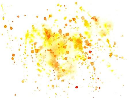 水彩絵の具のスプレー オレンジ