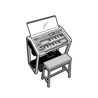 Instrument electronic organ