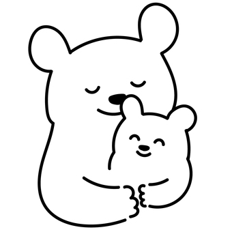 [No color] Polar bear parent and child