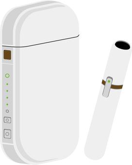 Electronic cigarette white image 2