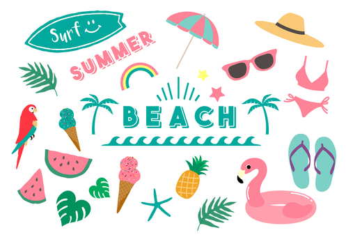 Summer beach tropical country set