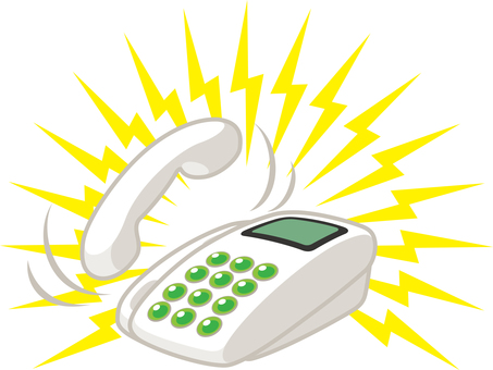 Telephone incoming call bell call