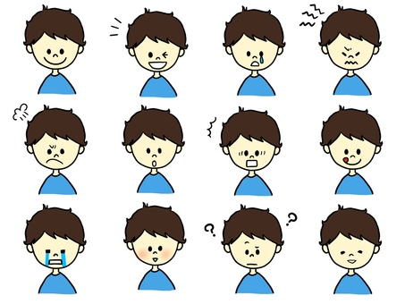 Boys with various expressions