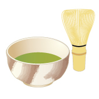 Tea and Matcha bowl _ Haginaki brush