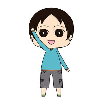 男孩舉手_01