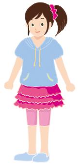 Short sleeve girl