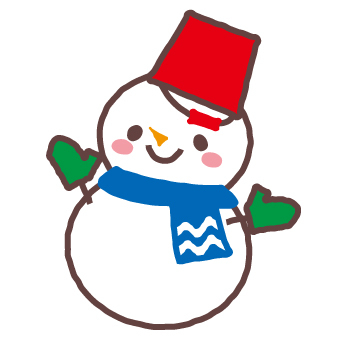 A snowman wearing a red bucket (003)