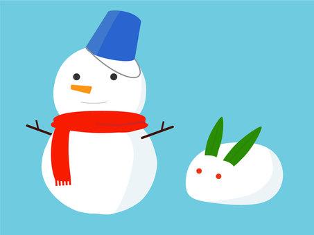 Snowmen and rabbits
