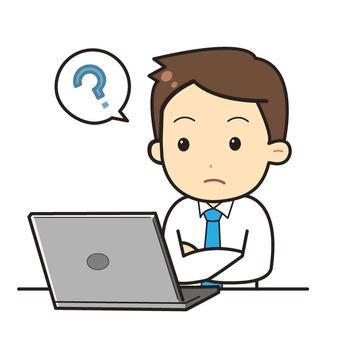 Man working on laptop computer_05