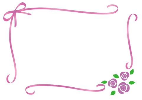Rose and ribbon frame