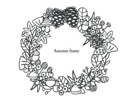 Autumn frame monochrome