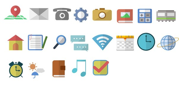 Icon set (with transparent version)