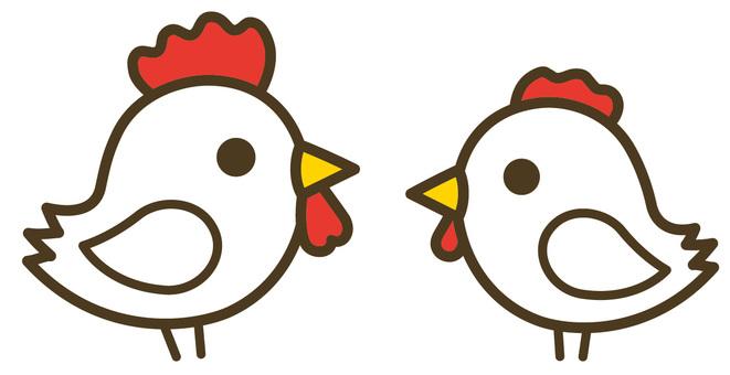 Chicken couple