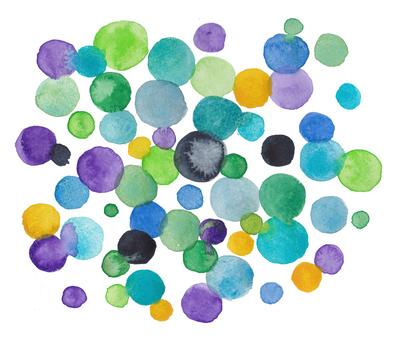 Watercolor dot pattern-blue