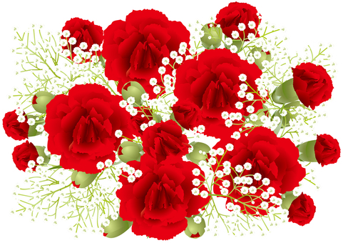 Carnation & gleaming grass 9
