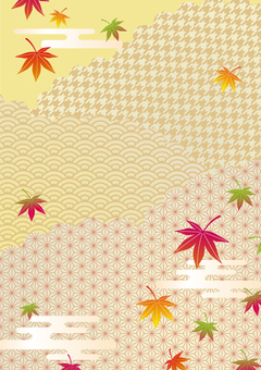 Autumn Japanese pattern frame 03