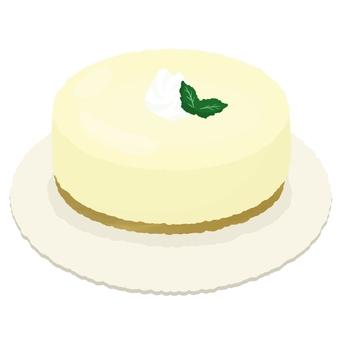 Creamy whole rare cheese cake 2