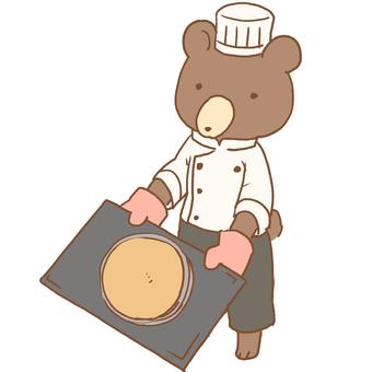 Baking bear patissier