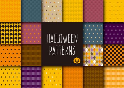 Halloween image pattern set