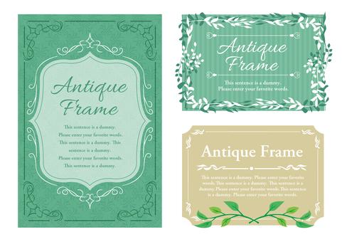 Fresh green material 015 green frame