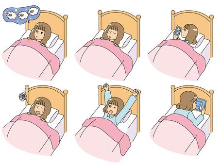 Girl before sleep
