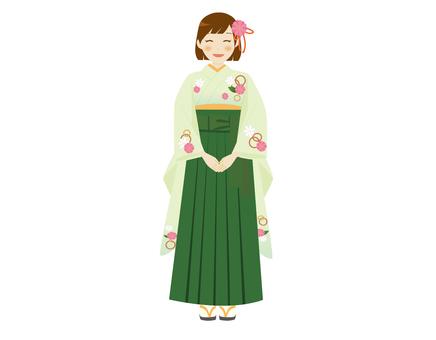 Green hakama