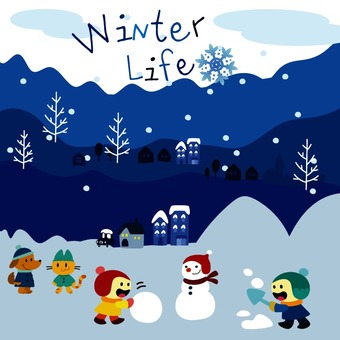 Winter life illustration