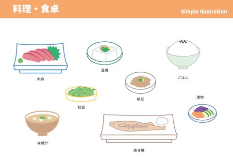 Simple illustration food · table