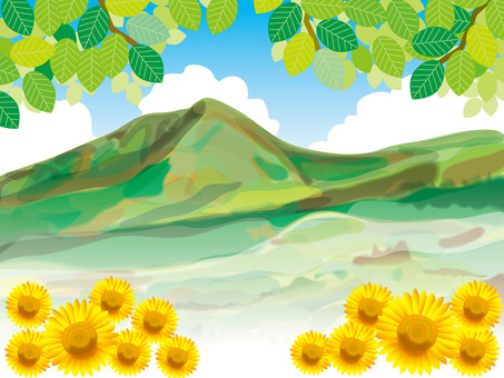 Sunflowers and mountains (1)