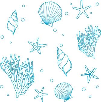 貝殻とサンゴとヒトデ