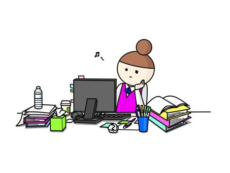 OL messy desk