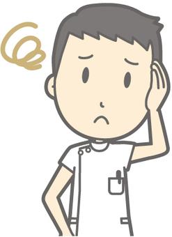 Male nurse - troubled - bust