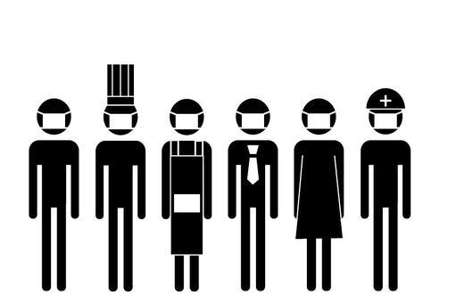 面具人像形圖
