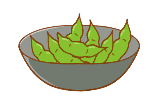 Edamame in a plate