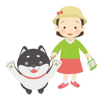 A walk with Kuroshiba