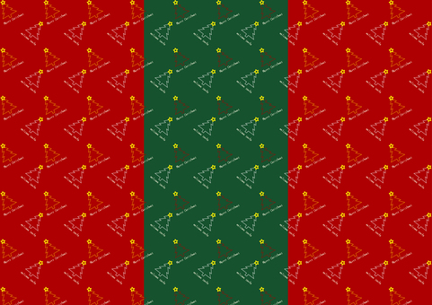 Christmas red green tree