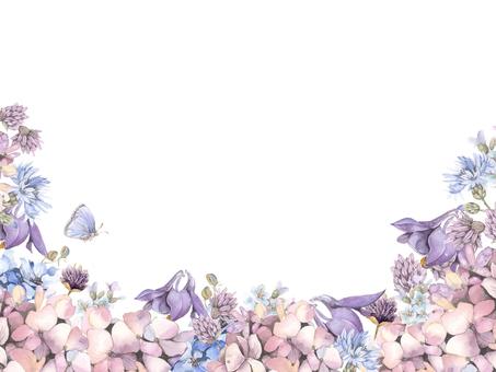 Floral frame 130 - Cool color flower frame
